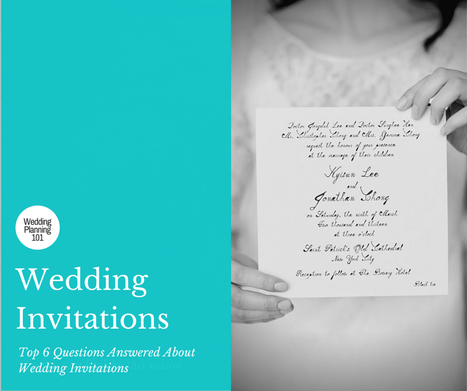 Top 6 Questions Answered About Wedding Invitations
